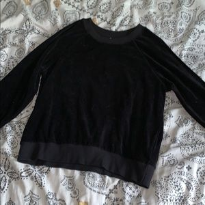 H&M Velvet Sweatshirt